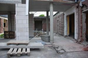 Baufortschritt Hospiz - Foyer