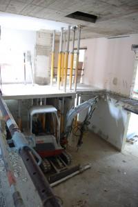 Treppenhaus ohne Treppe - Baufortschritt Hospiz Aachen