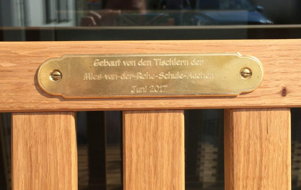 Die Tischler Klasse Der Mies Van Der Rohe Schule Aachen Hat Die